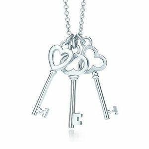 Tiffany & Co Three-keys Sterling Silver Necklace